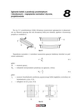 naprężenia normalne i styczne, projektowanie