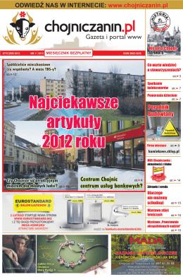 Najciekawsze artykuły 2012 roku Najciekawsze