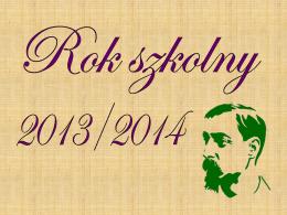 2013/2014(cz I) - Liceum Ogólnokształcące im. Henryka