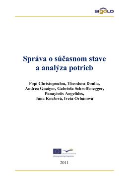 Správa o súčasnom stave a analýza potrieb (pdf)
