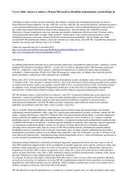 Výzva vláde: Správa o zmluve s firmou Microsoft je