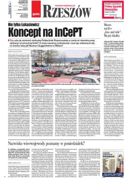 1. Gazeta Wyborcza wydanie Rzeszów, z dnia 4 grudnia 2014r.