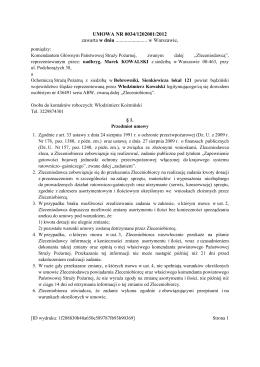 umowa OSP BOBROWNIKI