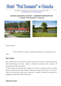 Kolonie letnie - Hotel pod Warszawą