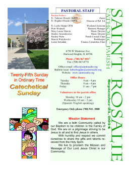 September 21, 2014 Bulletin