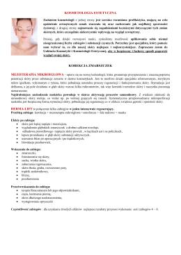 kosmetologia estetyczna korekcja zmarszczek