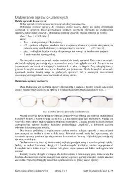 Dobieranie opraw okularowych