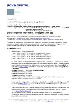 Priebeh a podmienky súťaže v PDF