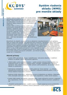Systém riadenia skladu (WMS) pre menšie sklady
