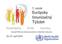 Európsky Imunizačný Týždeň - Regionálny úrad verejného