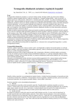 Termografia chladiacich zariadení a tepelných čerpadiel - K