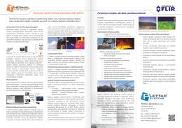 Termovízny systém na včasné rozpoznanie vzniku požiaru