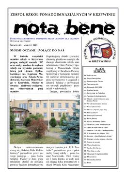 Numer 40 - marzec 2013 - Zespół Szkół Ponadgimnazjalnych w