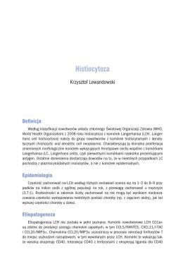 Histiocytoza - Zalecenia postępowania diagnostyczno