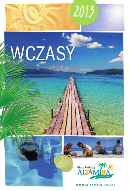 Katalog Wczasy lato 2013