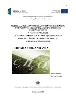 chemia organiczna - studia inżynierskie gwarancją rozwoju utp i