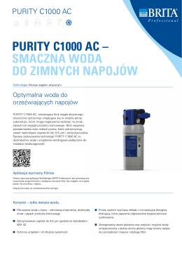 PURITY C1000 AC – SMACZNA WODA DO ZIMNYCH