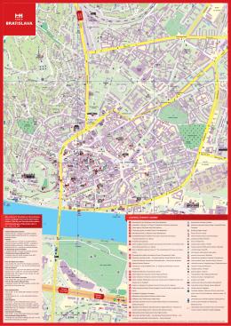 Mapa Bratislavy 2010