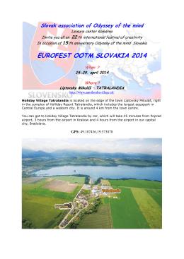 EUROFEST OOTM SLOVAKIA 2014