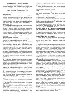 Všeobecné právne a obchodné podmienky