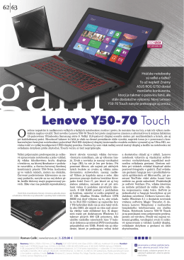Lenovo Y50-70 Touch
