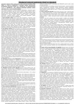 Všeobecné zmluvné podmienky účasti na zájazdoch