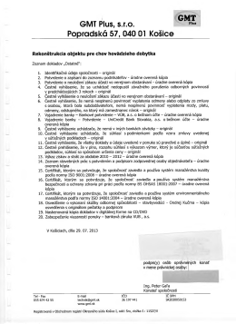 GMT Plus, s.r.o. Popradská 57, 040 01 Košice