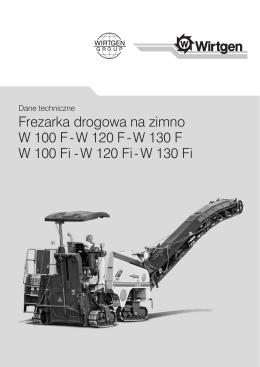 Frezarka drogowa na zimno W 100 F - W 120 F - W
