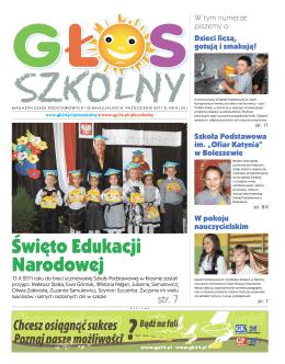 Zobacz Głos Szkolny, wydany 23 października 2011r.