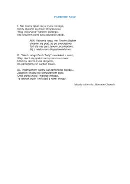 PATRONIE NASZ Muzyka i słowa ks. Hieronim