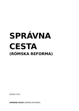 Správna cesta (Rómska reforma)