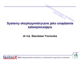 EpsilonX 2013 - Systemy eksplozymetryczne jako urządzenia