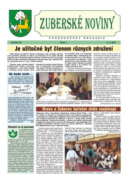 Zuberské noviny 1/2011 Formát PDF