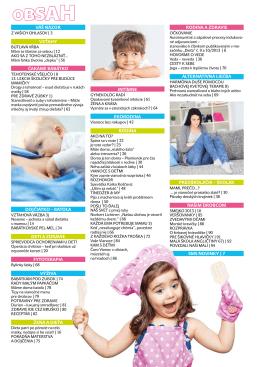 SMS NoviNky | 7 Dojčiatko – batoľa Deti a zDravie