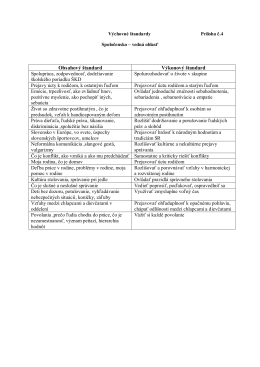 Obsahový štandard Výkonový štandard