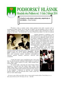 hlasnik-2-2014 - Obec Podhorie