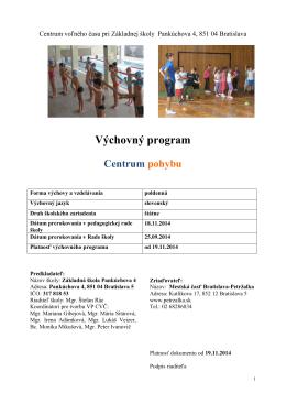 centrum pohybu - zspankuchova.stranka.info