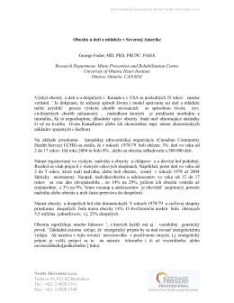 Obezita u detí a mládeže v Severnej Amerike