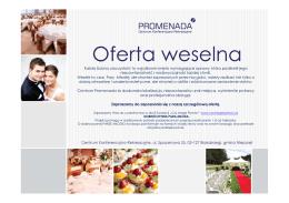 Oferta_weselna CKR Promenada 2015-2016