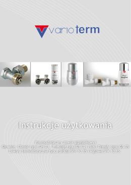 Instrukcje użytkowania - Głowice termostatyczne