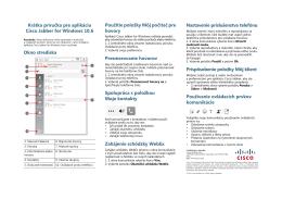 Krátka príručka pre aplikáciu Cisco Jabber for Windows 10.6