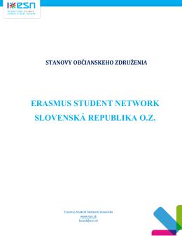 ERASMUS STUDENT NETWORK SLOVENSKÁ