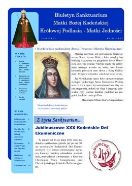 Matki Jedności - Sanktuarium Matki Bożej Kodeńskiej