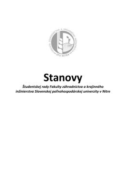 Stanovy - FZKI SPU Nitra