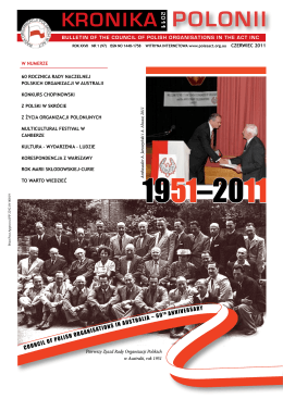 KRONIKA POLONII - Council of Polish Organisations in the ACT Inc.