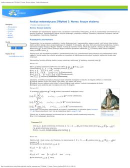 Analiza matematyczna 2/Wykład 3: Norma. Iloczyn skalarny