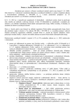 Správa o činnosti za rok 2012
