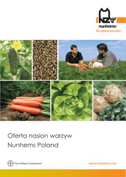 Oferta nasion warzyw Nunhems Poland