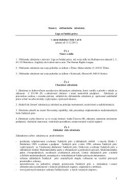 platné od 13.12.2011 - Liga za ľudské práva