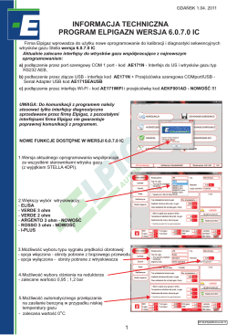 informacja techniczna oprogramowania 6.0.7